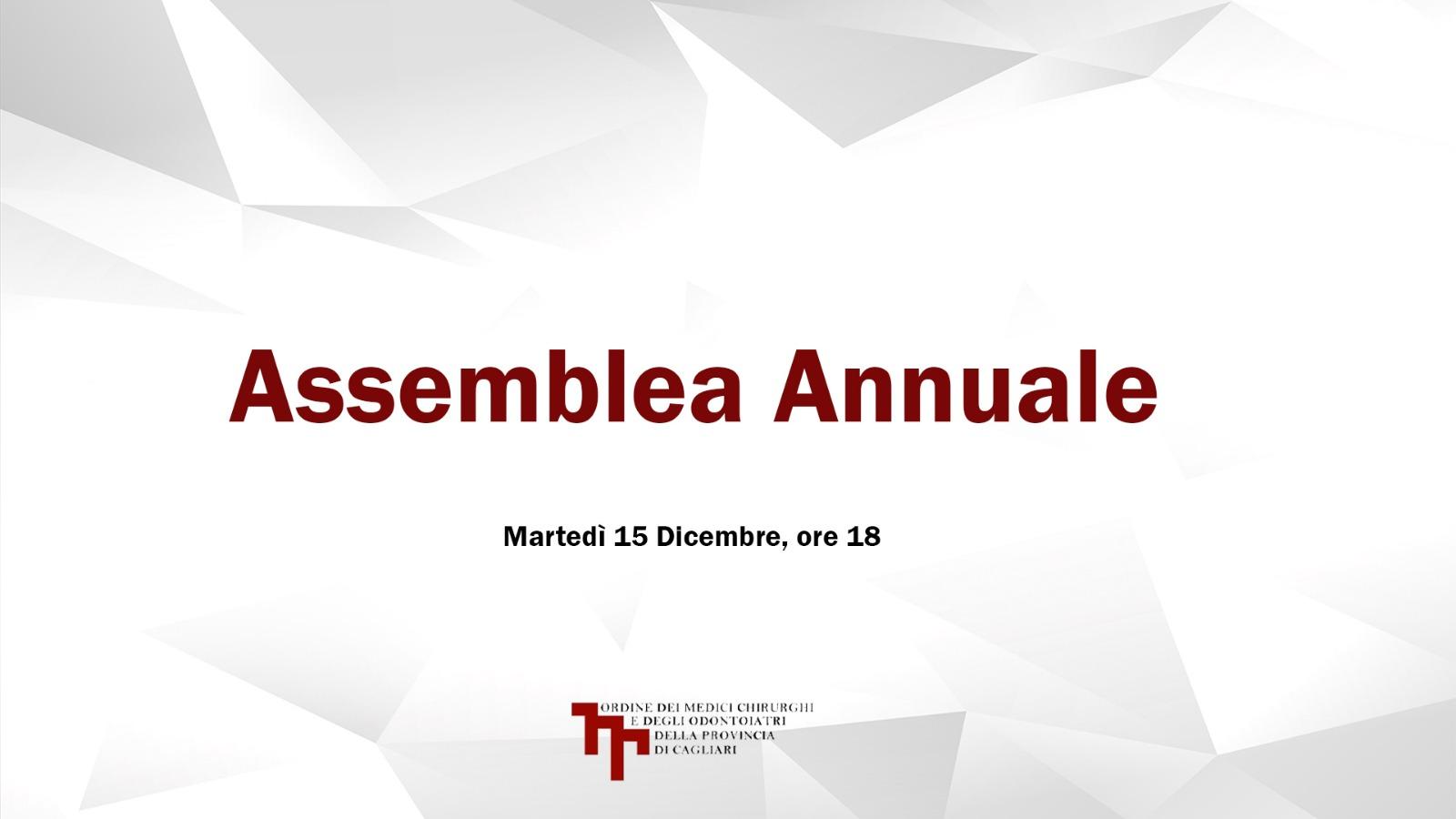 Assemblea Annuale 2020